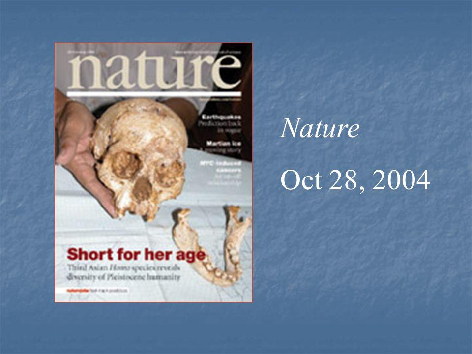 Nature Oct 28, 2004