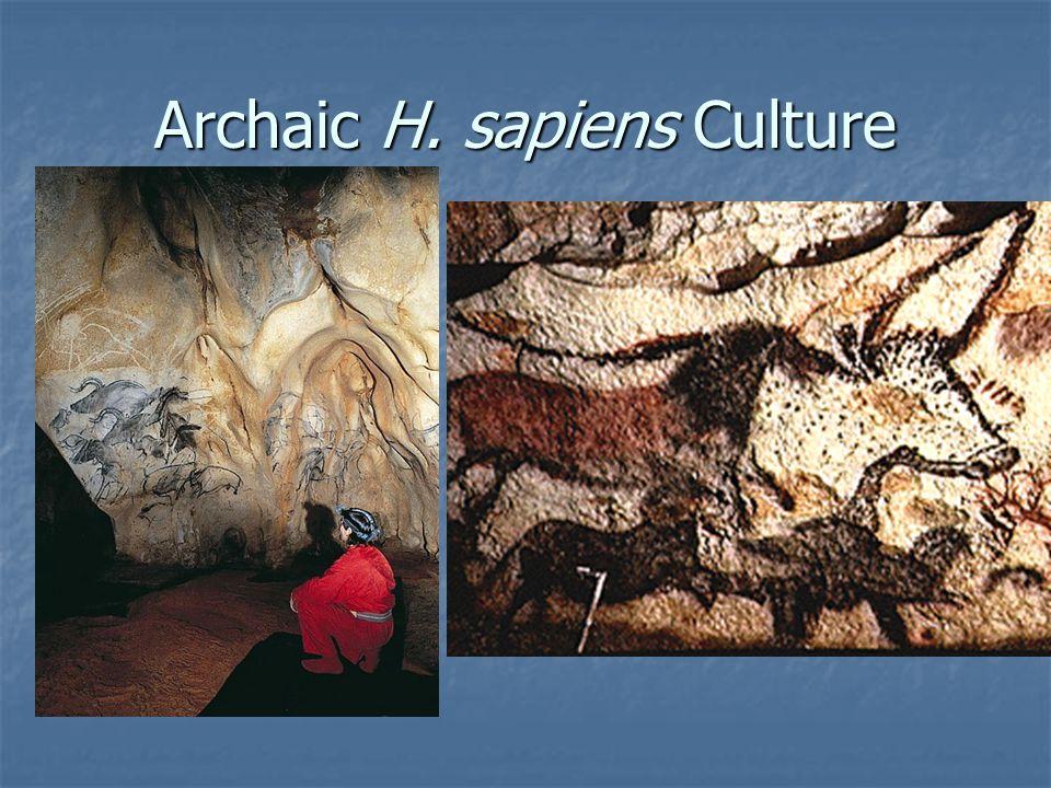 Archaic H. sapiens Culture