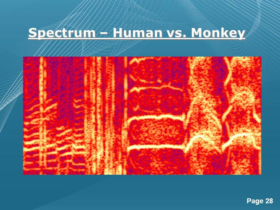 Page 28 Spectrum – Human vs. Monkey
