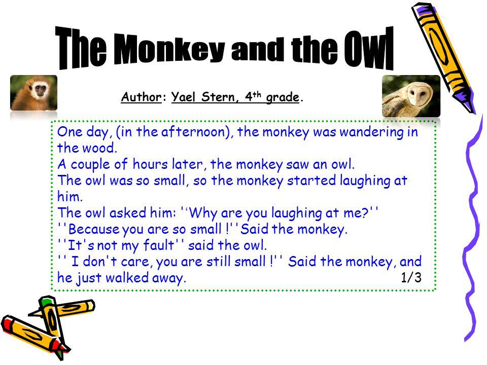 Author: Ron Bar, 4 th grade.