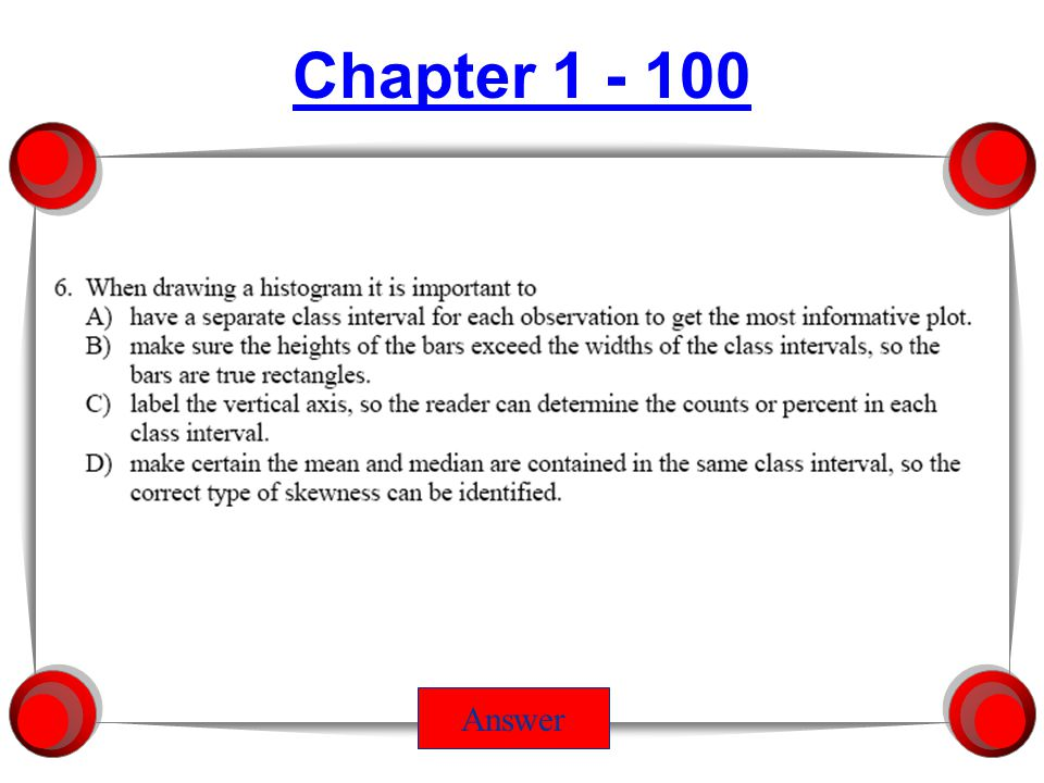 Chapter 3 - 100 Answer