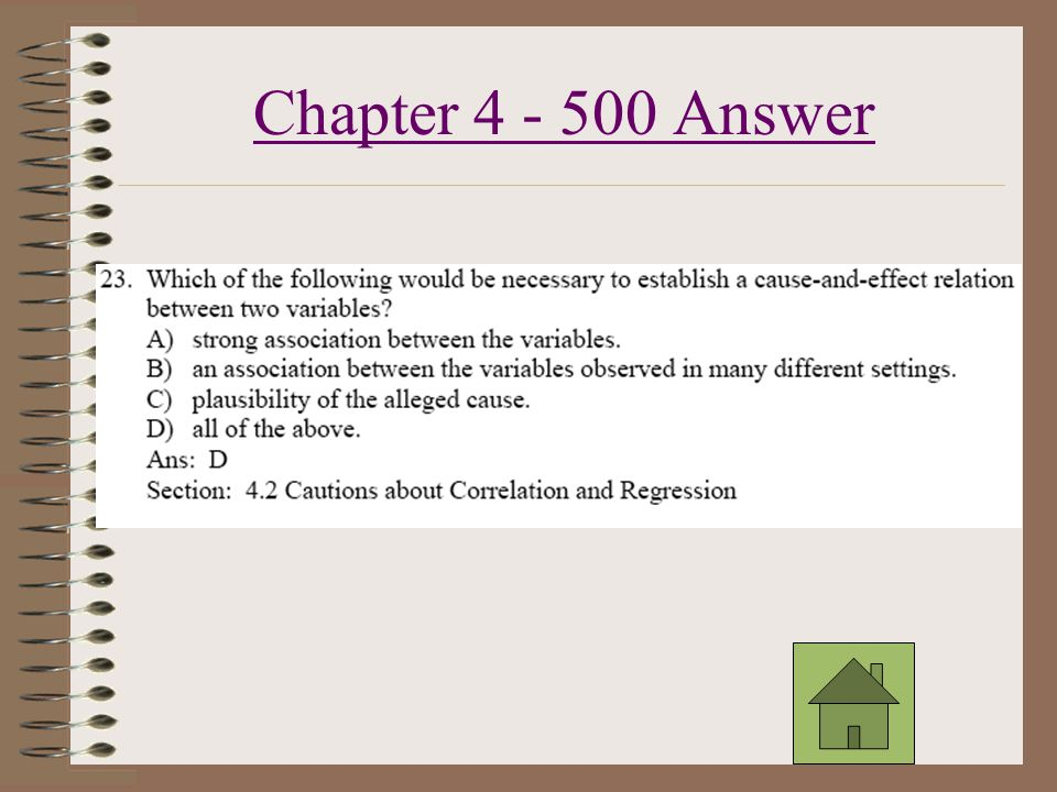 Chapter 4 - 400 Answer