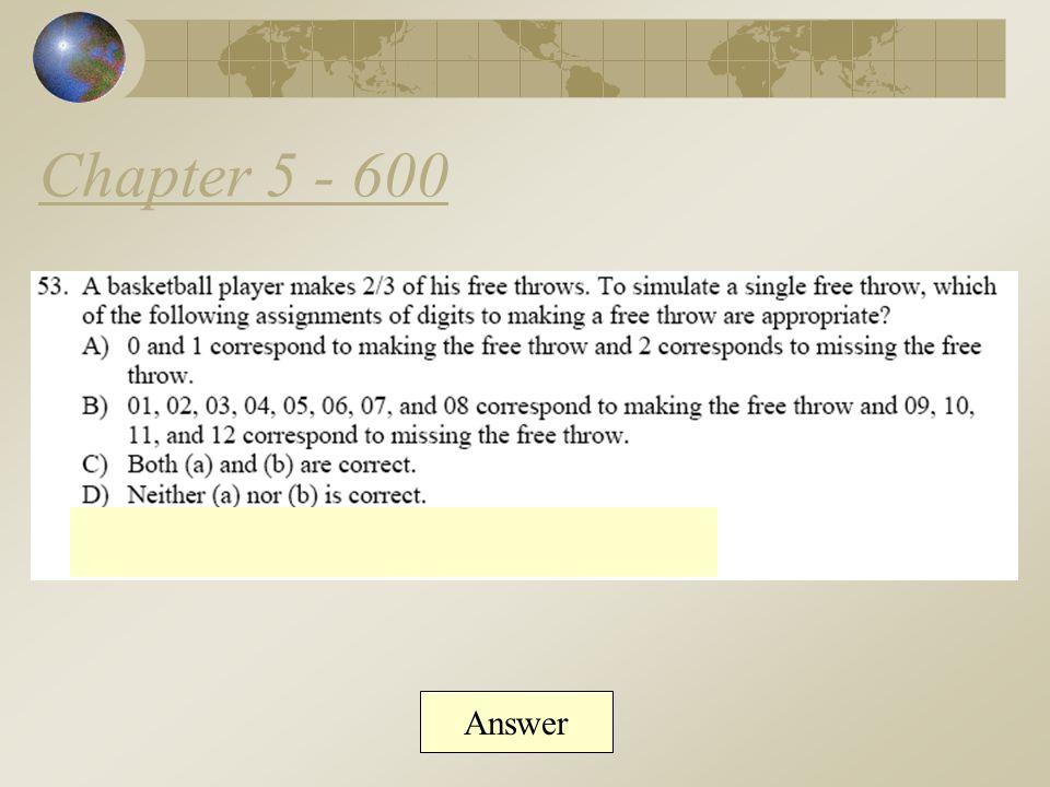 Chapter 5 - 500 Answer