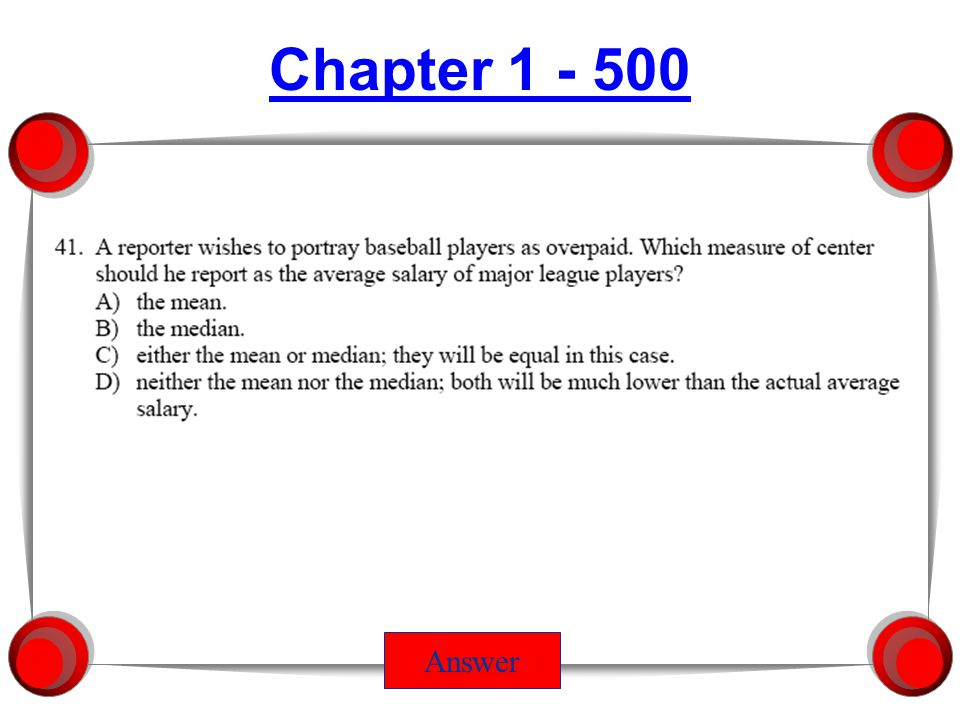 Chapter 6 - 500 Chapter 6 - 500 Answer