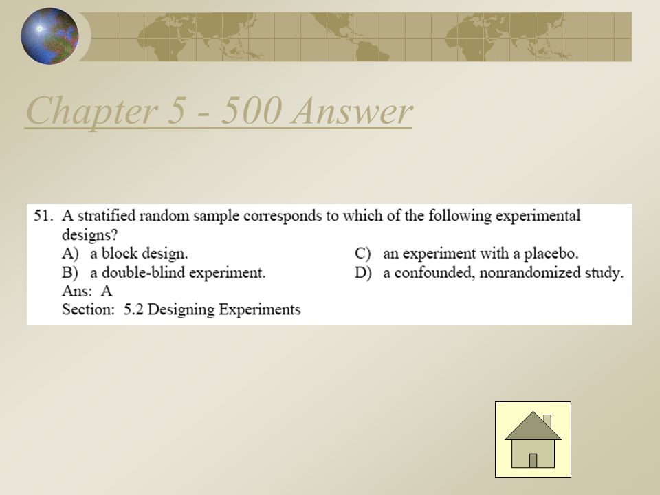 Chapter 5 - 400 Answer