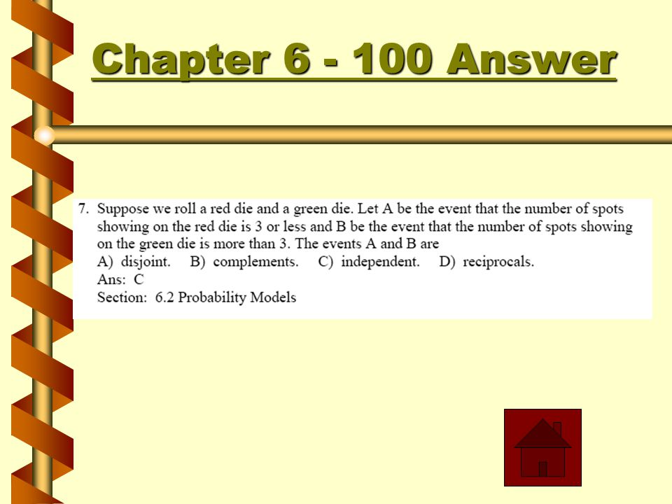Chapter 6 - 600 Chapter 6 - 600 Answer