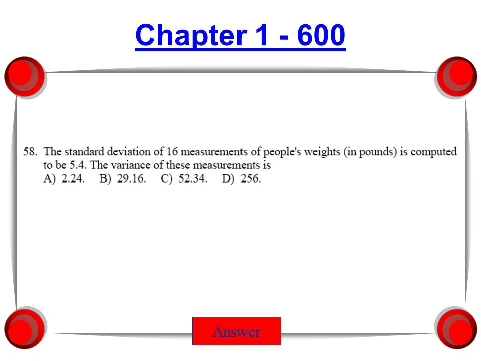 Chapter 5 - 200 Answer