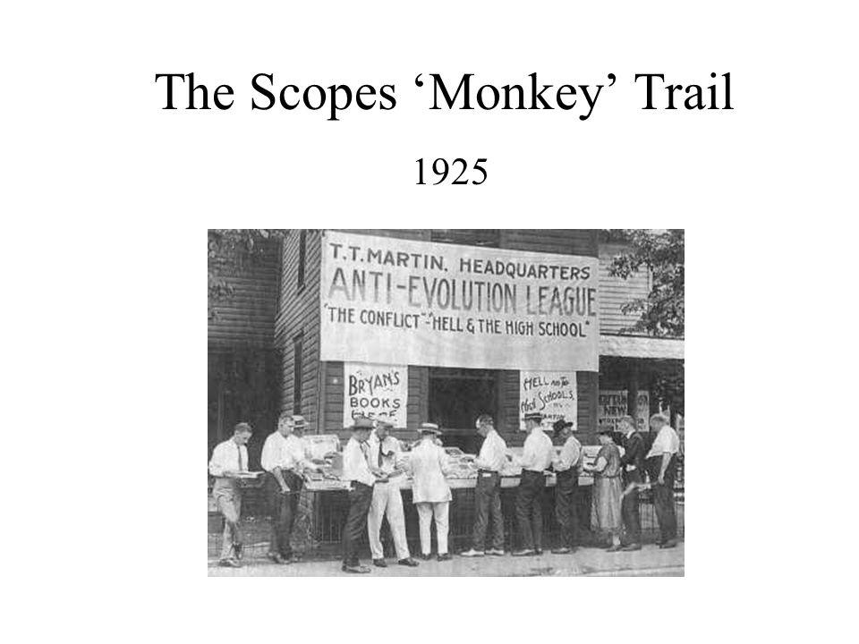 The Scopes 'Monkey' Trail 1925