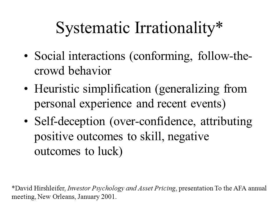 Alternative Classification* *Mark Rubinstein, Rational Markets: Yes or No.