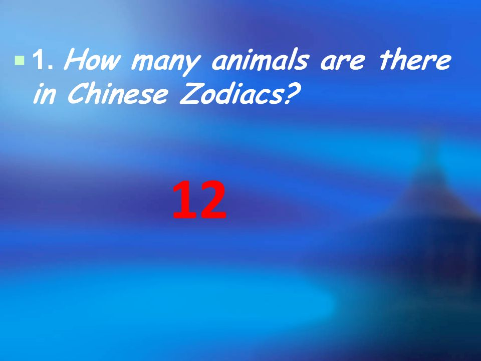 2. Which animal ranks first among the Zodiac animals?