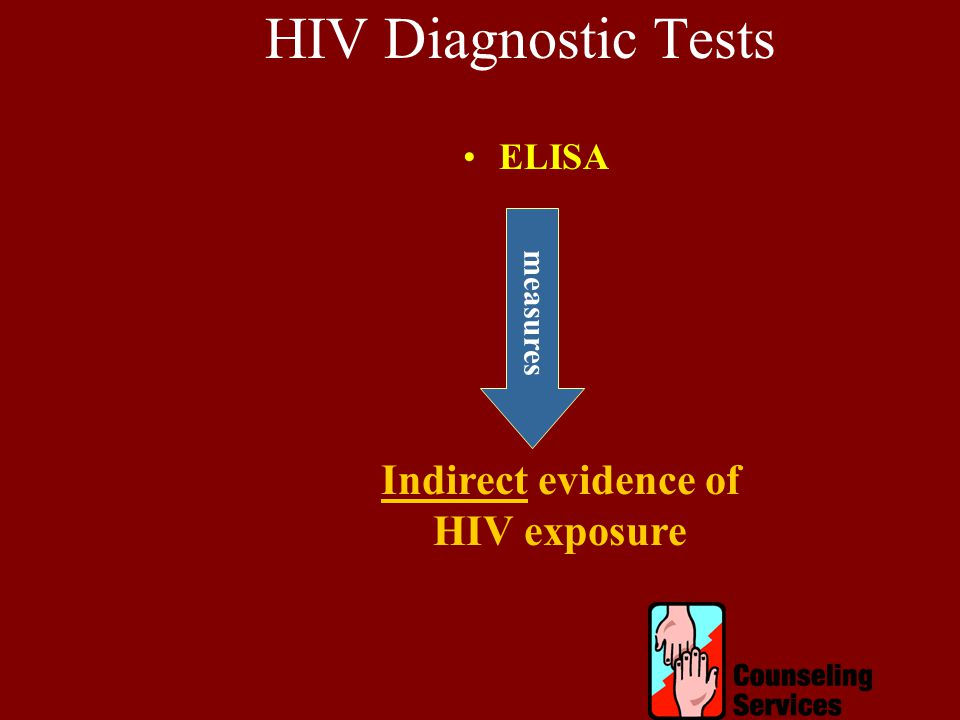 HIV Diagnostic Tests ELISA Indirect evidence of HIV exposure measures