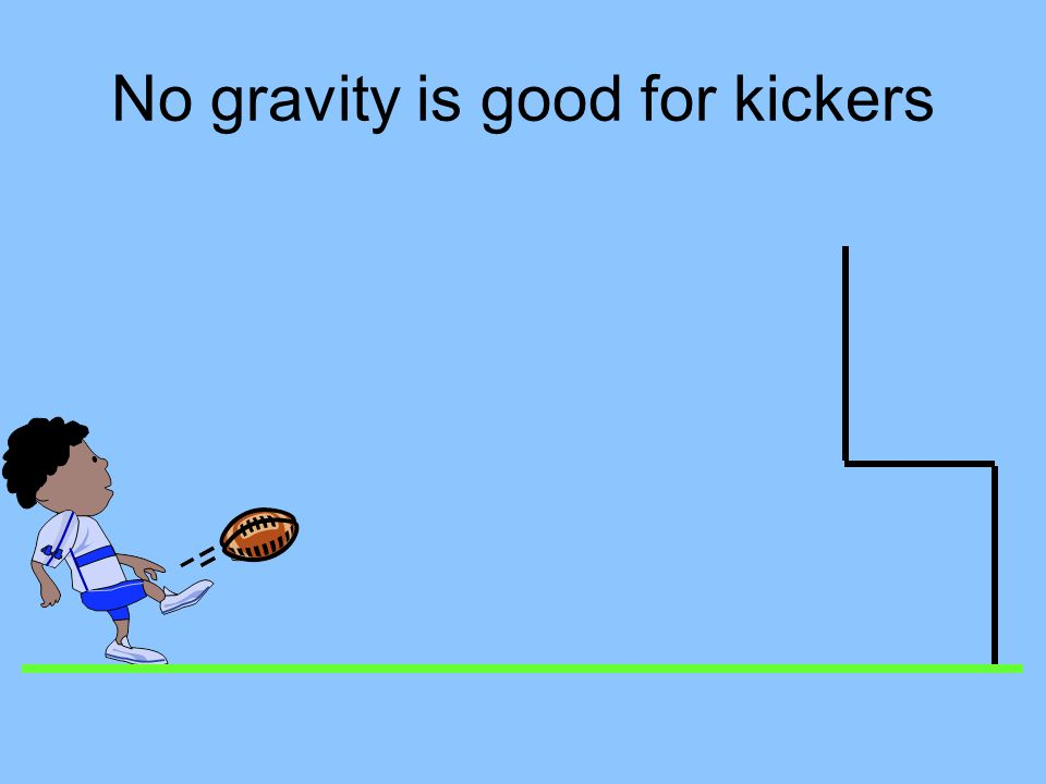 Football without gravity