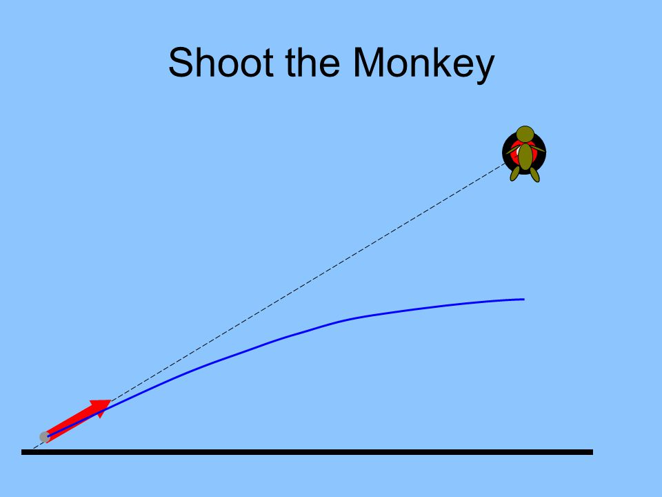In the absence of gravity a bullet would follow a straight line forever.