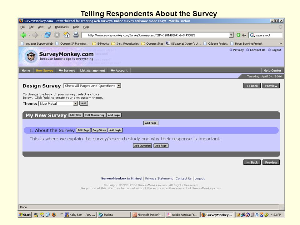 Telling Respondents About the Survey