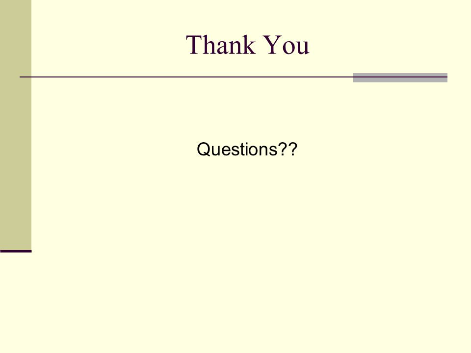 Thank You Questions??