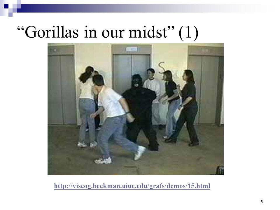 """5 """"Gorillas in our midst"""" (1) http://viscog.beckman.uiuc.edu/grafs/demos/15.html"""