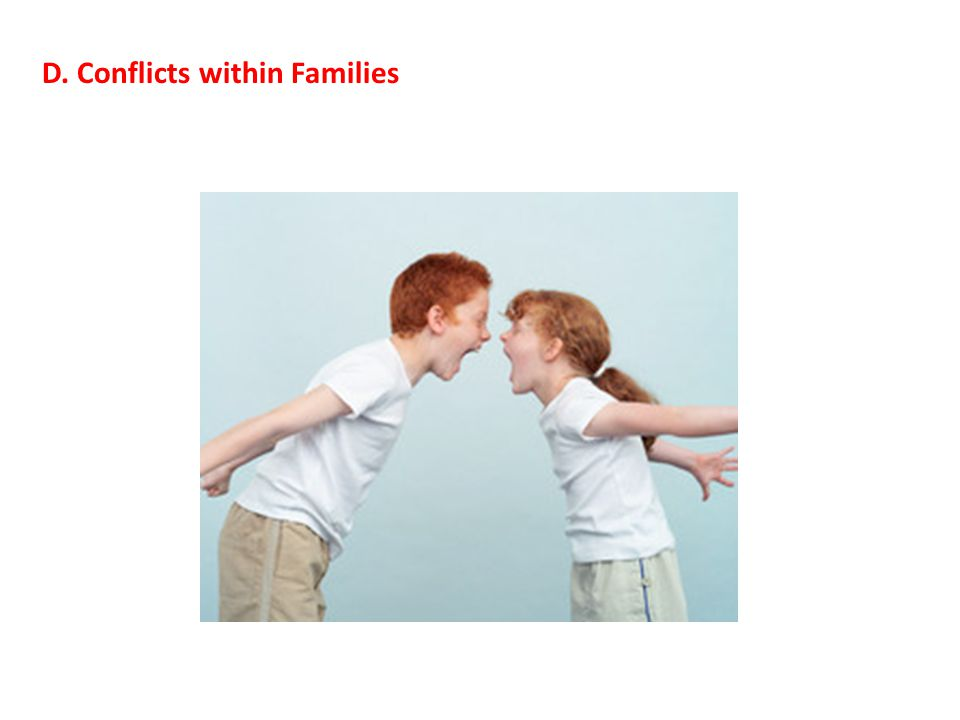 D. Conflicts within Families