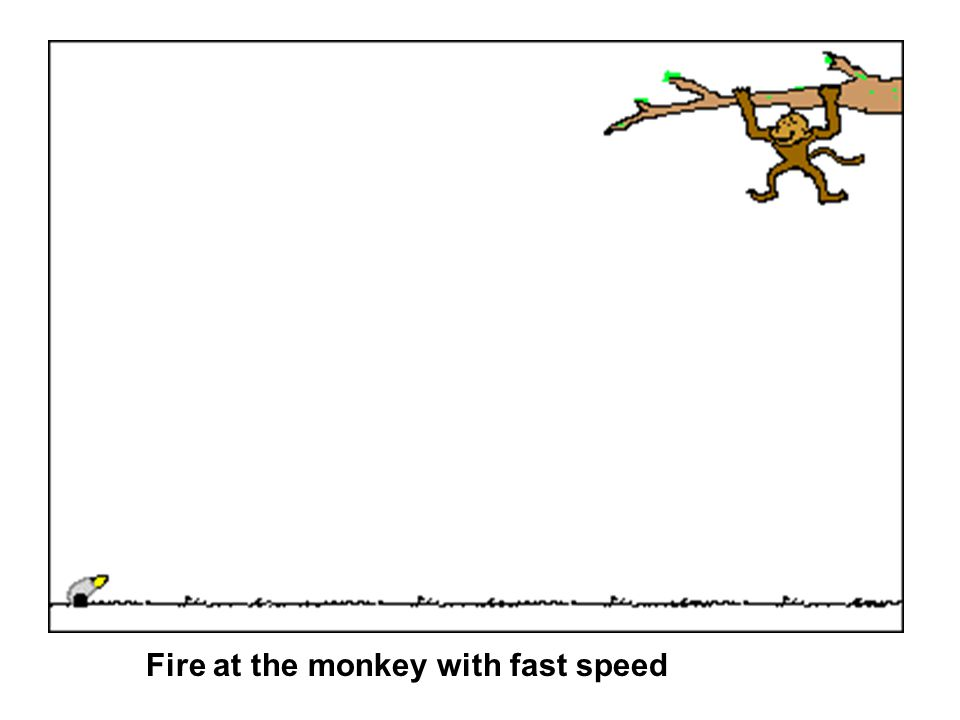 Fire at the monkey with fast speed