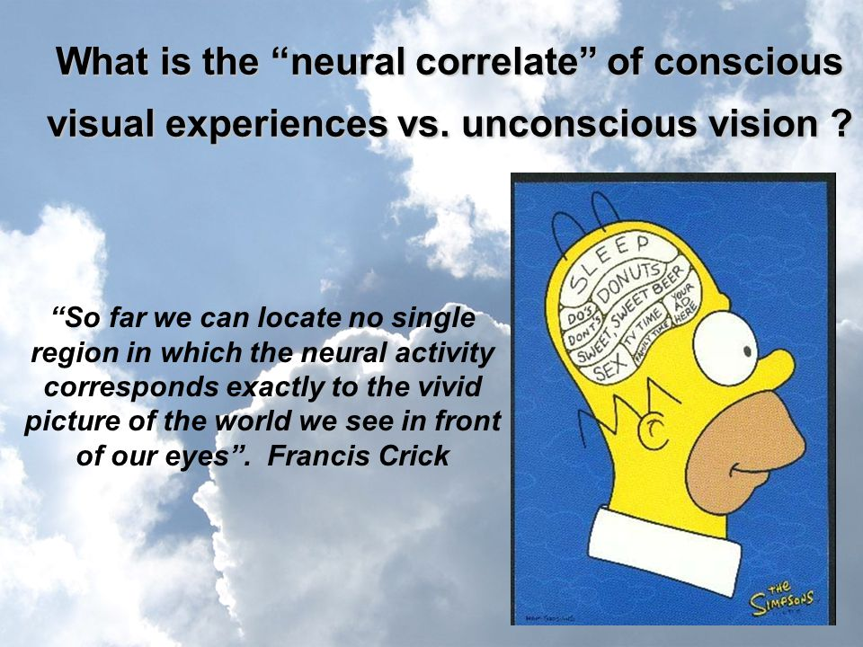 What is the neural correlate of conscious visual experiences vs.