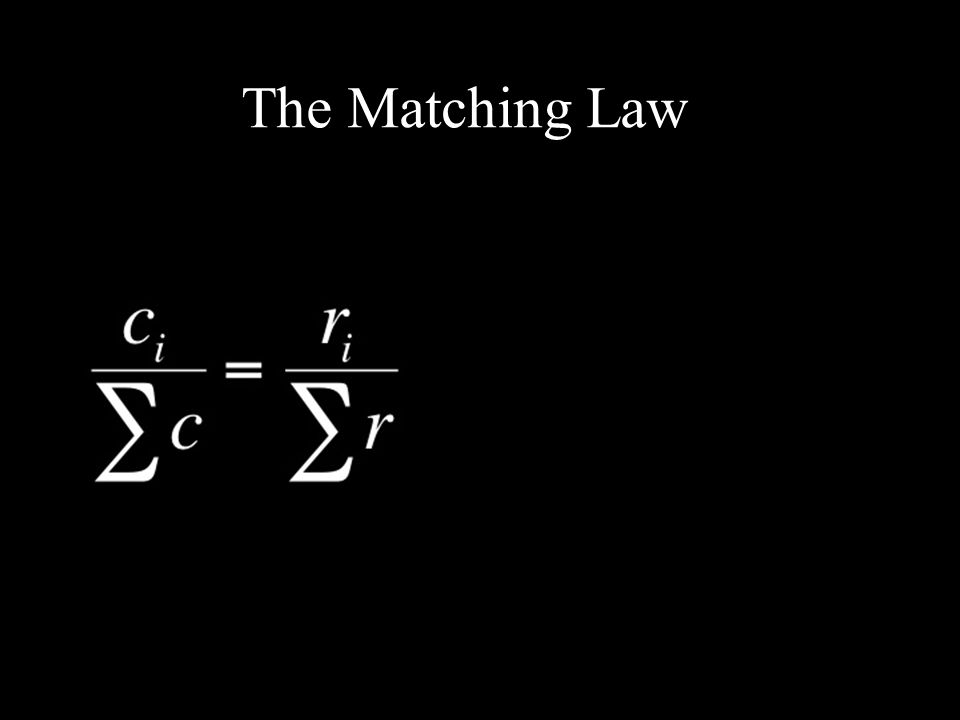 The Matching Law Choice Fraction