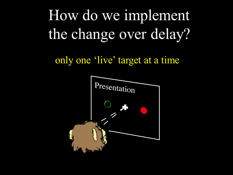 How do we implement the change over delay? only one 'live' target at a time