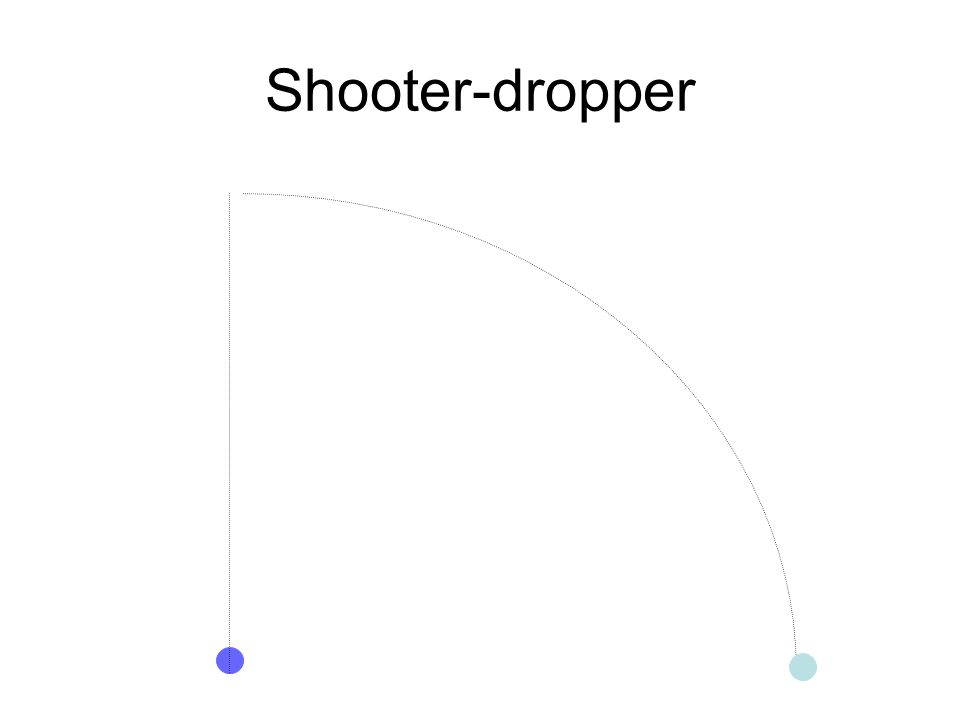 Shooter-dropper