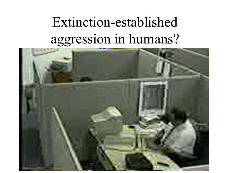 Extinction-established aggression in humans?