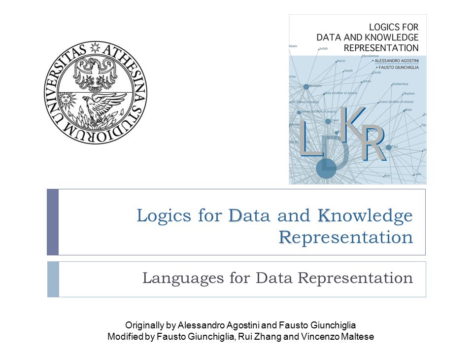 22 Logic  Logics has two fundamental components:  L is a formal language  I is an interpretation function which maps sentences into a formal model M (over all possible ones) with a domain D  Language L = {A, , ,  }  Domain D = {T, F} or D' = {o 1, …, o n } I: L  D is intensional or I: L  pow(D') is extensional  Theory  A set of sentences which are true in the language  It can be seen a set of constraints on possible models to filter out all undesired ones KEY NOTIONS :: MODEL :: LANGUAGE :: FORMAL MODELS :: SPECIFICATION & AUTOMATION :: THEORY