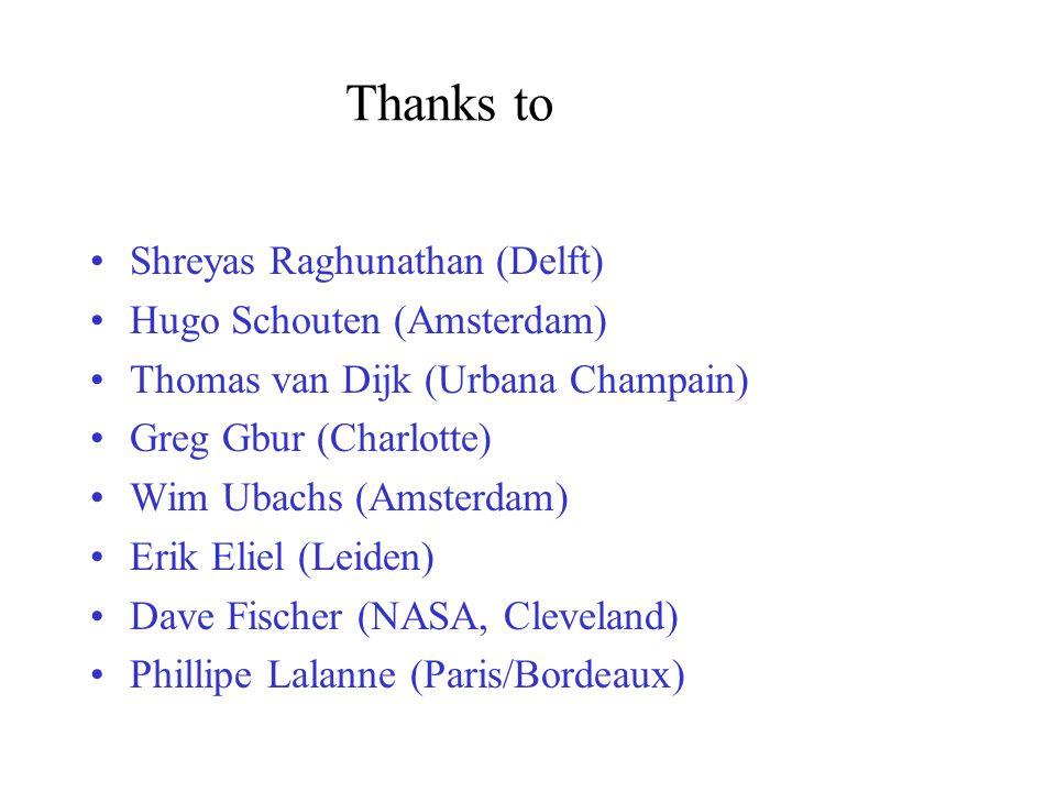 Thanks to Shreyas Raghunathan (Delft) Hugo Schouten (Amsterdam) Thomas van Dijk (Urbana Champain) Greg Gbur (Charlotte) Wim Ubachs (Amsterdam) Erik El