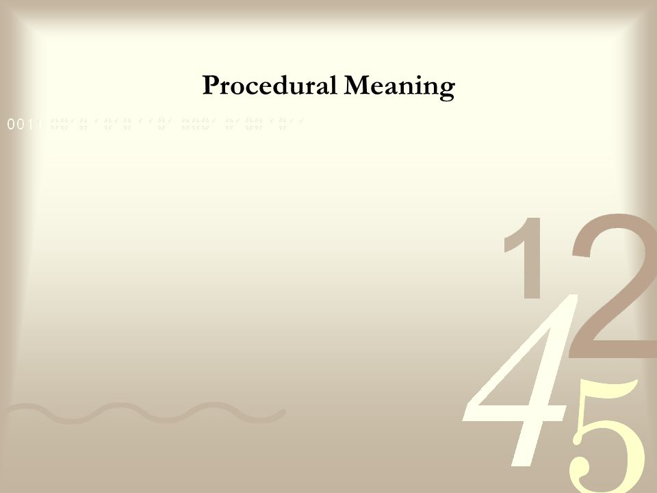 Procedural Meaning