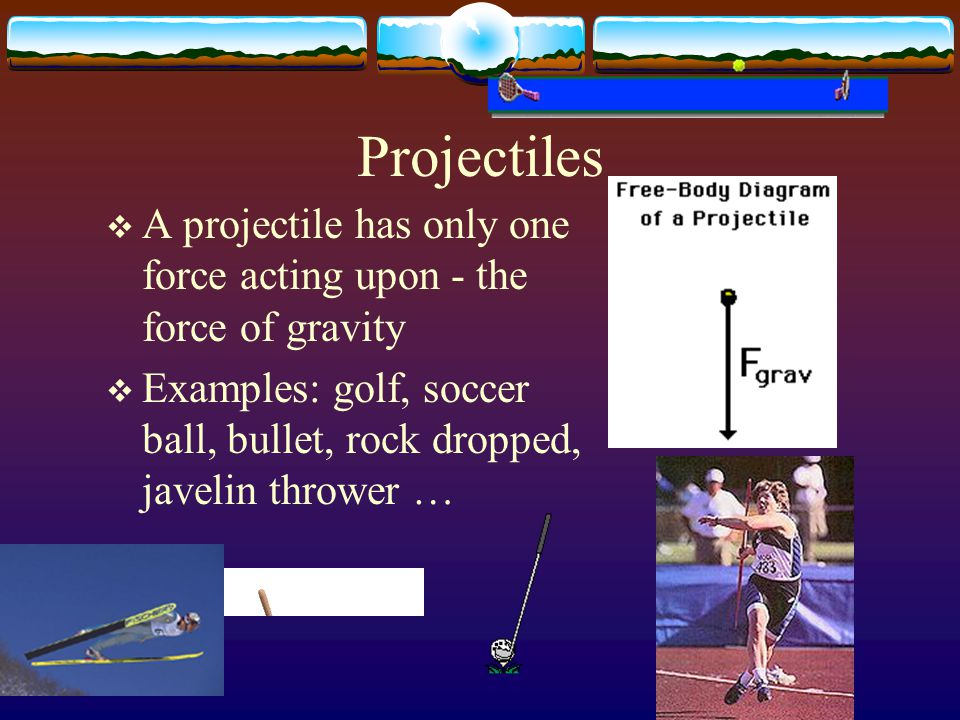 Factors Influencing Projectile Trajectory Trajectory: the flight path of a projectile  Angle of projection  Projection speed  Relative height of projection