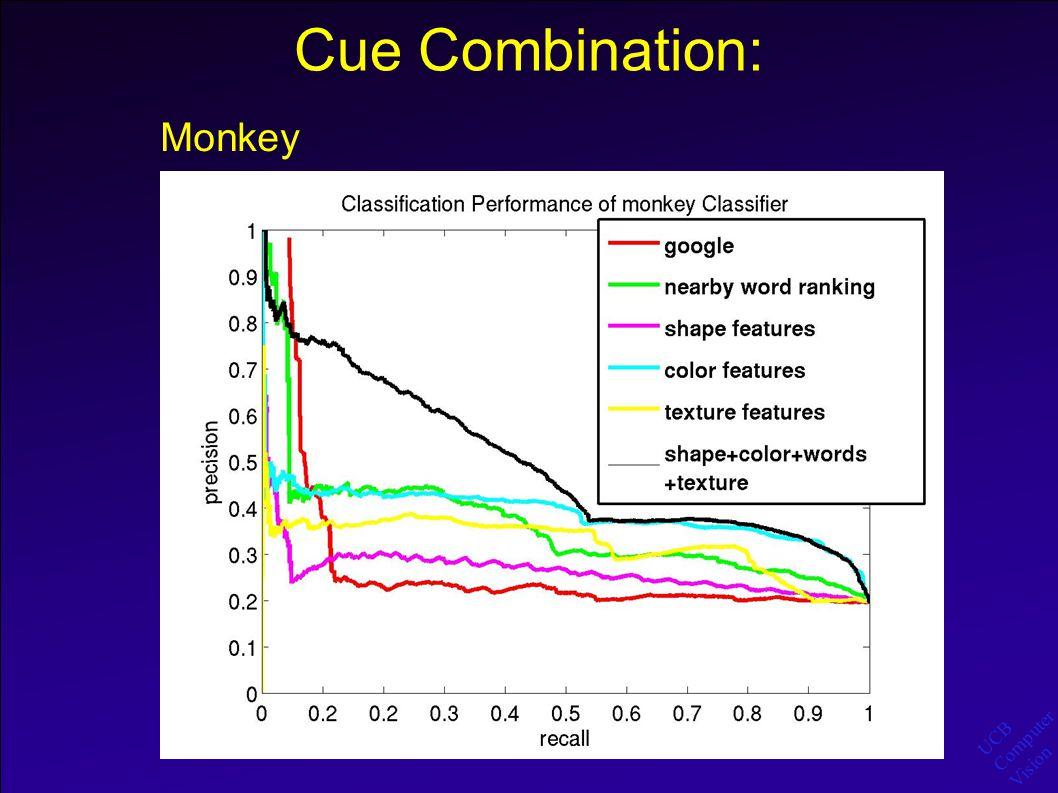 UCB Computer Vision Cue Combination: Monkey