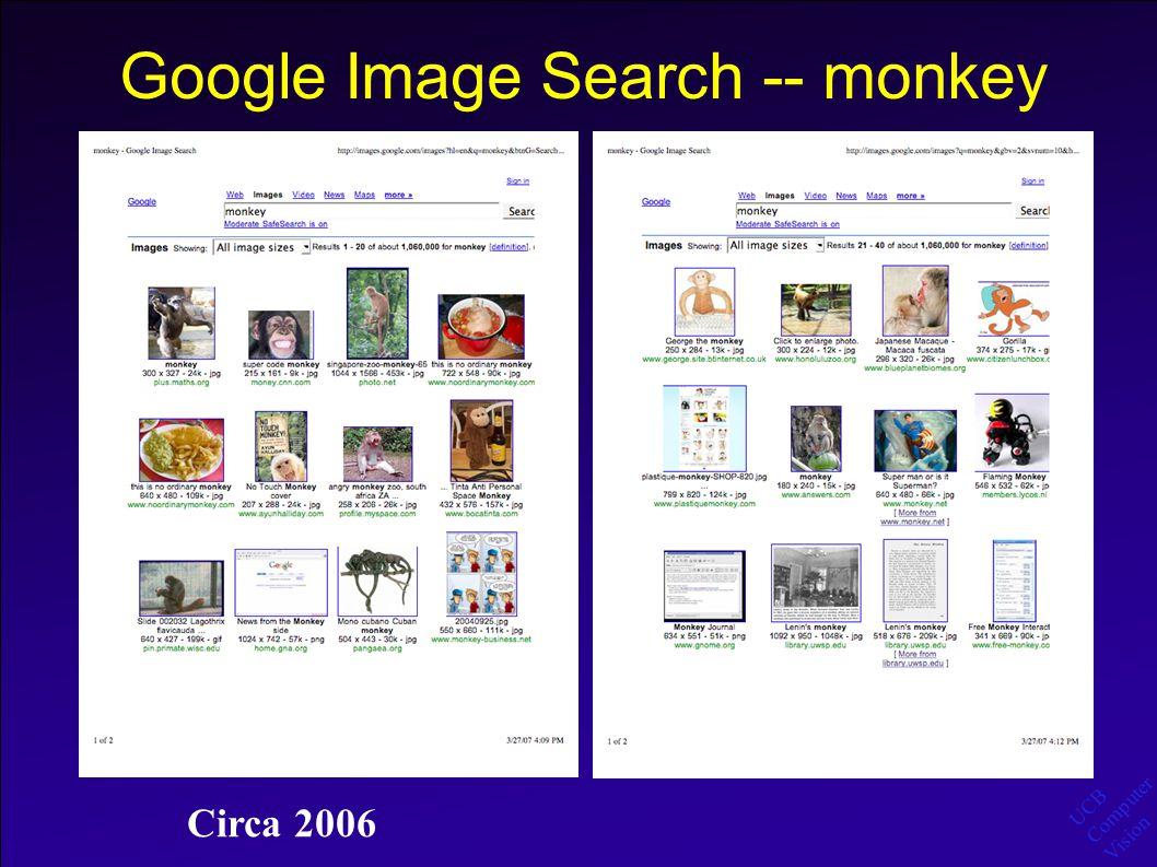 UCB Computer Vision Google Image Search -- monkey Circa 2006