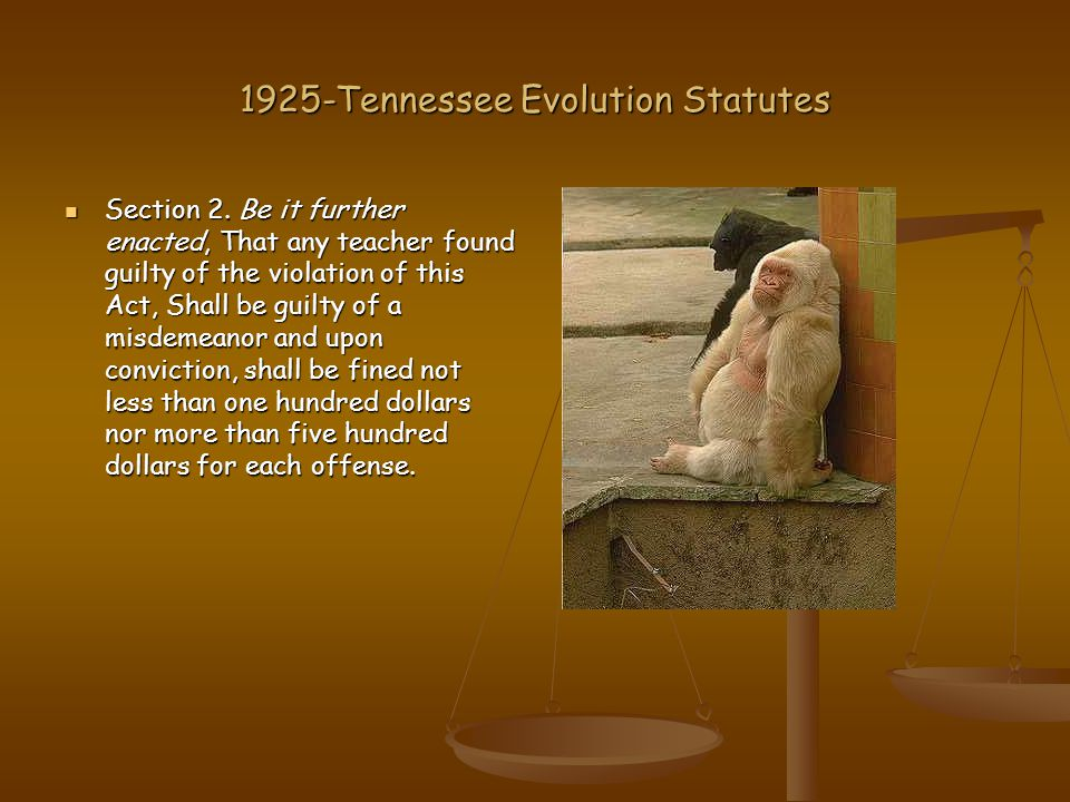 1925-Tennessee Evolution Statutes Section 2.