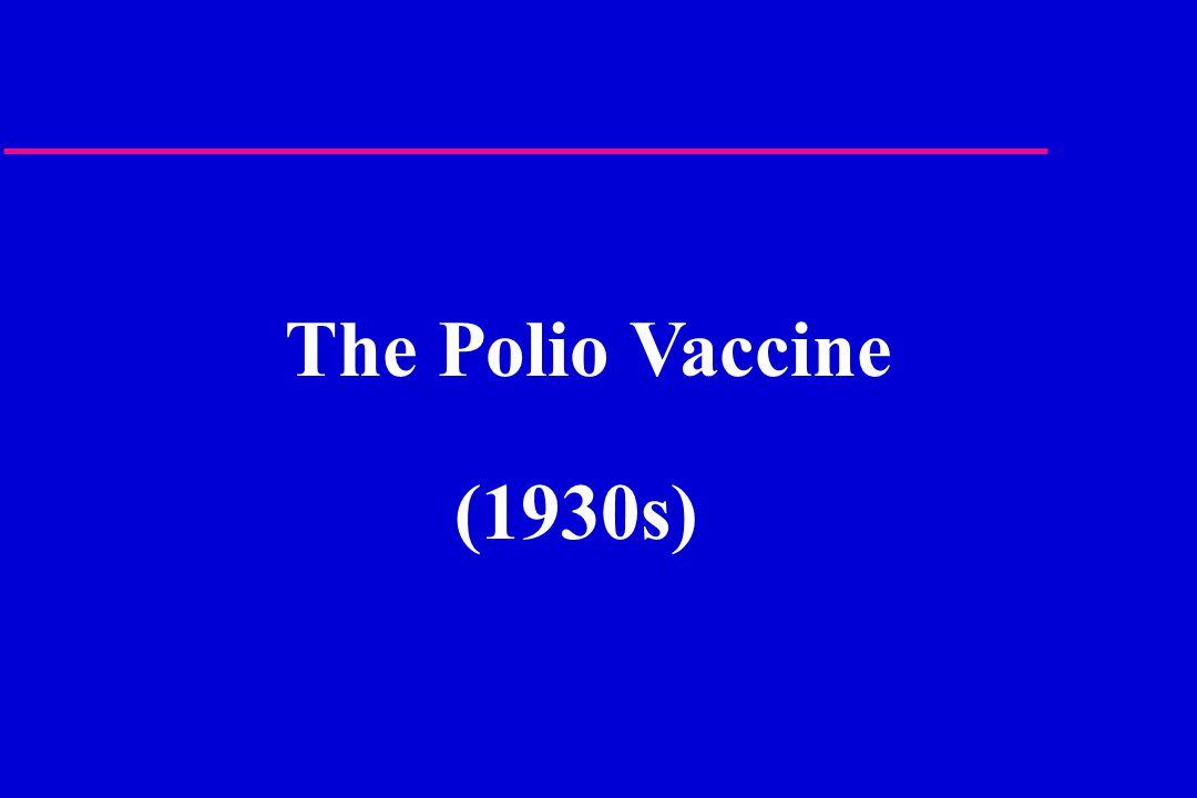 The Polio Vaccine (1930s)