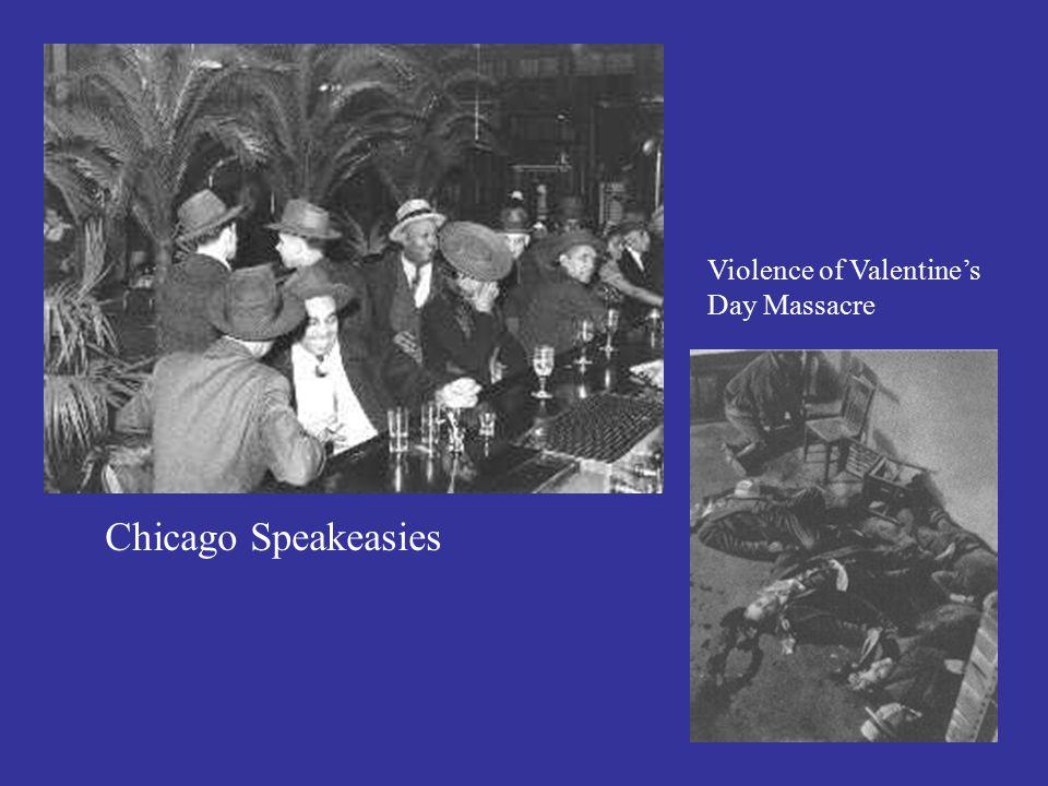 Chicago Speakeasies Violence of Valentine's Day Massacre