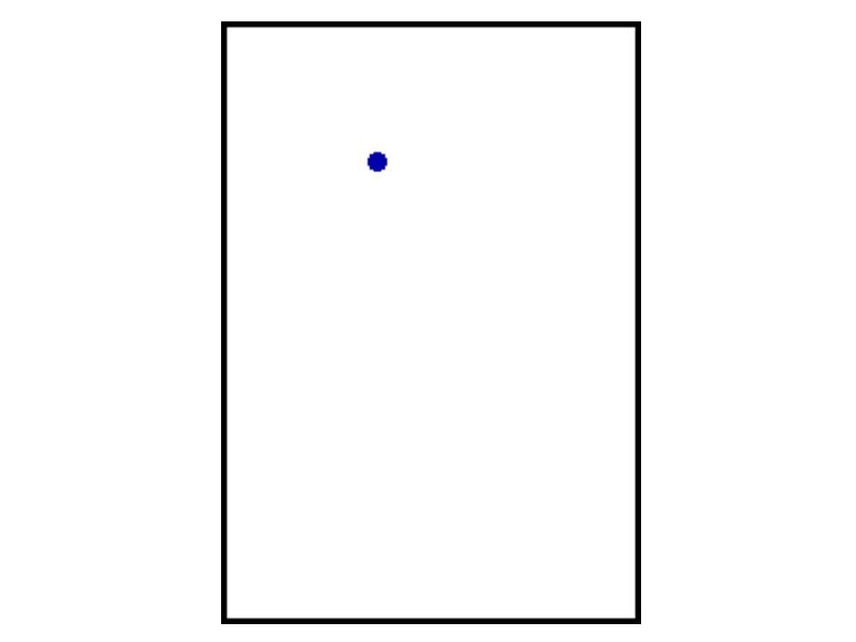 An object is thrown from a height of 44.1 m with a horizontal speed of 35.0 m/s. (It will hit in 3 s.) Horizontally: 35 m v e r ti c a ll y 4.9 m 14.7
