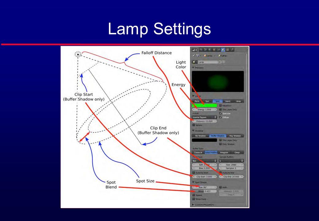 Lamp Settings