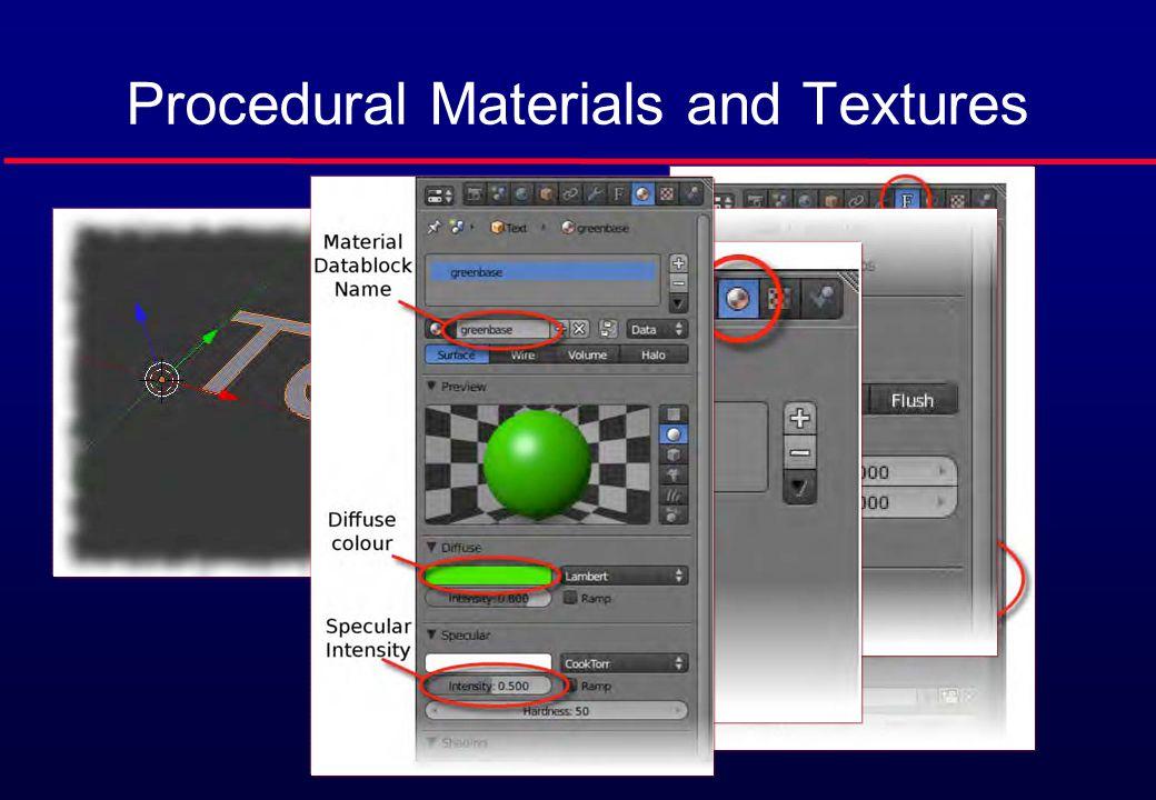 Procedural Materials and Textures
