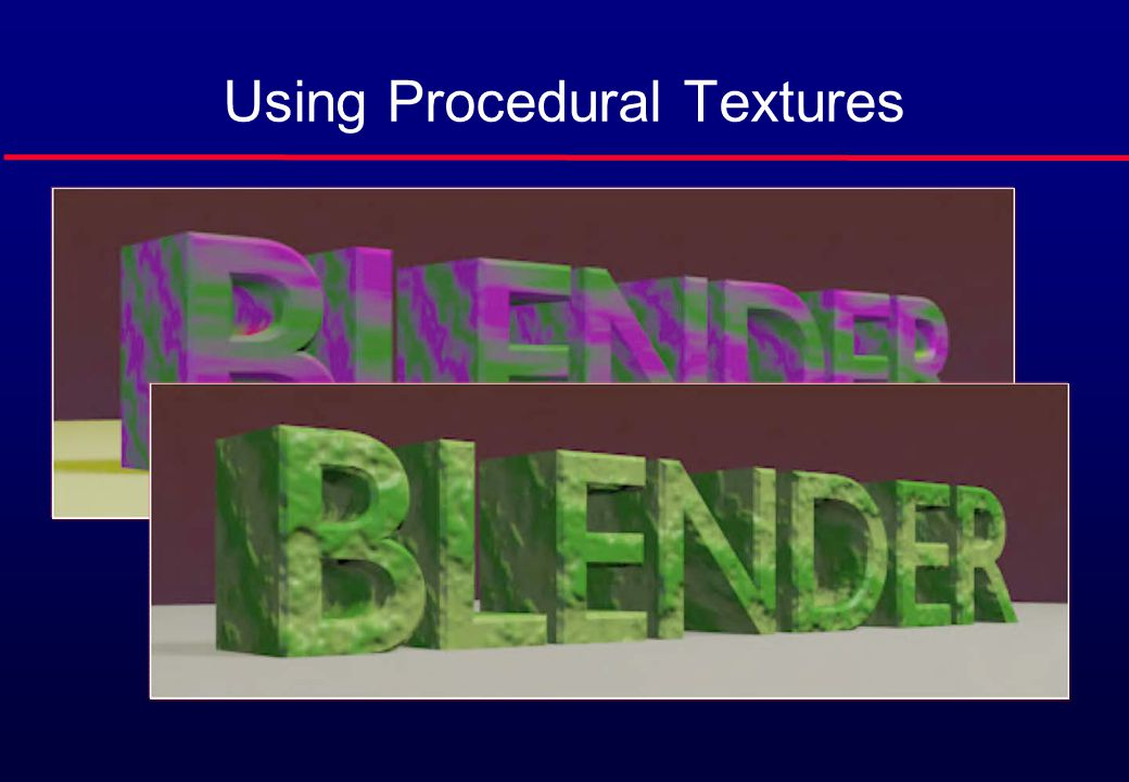 Using Procedural Textures