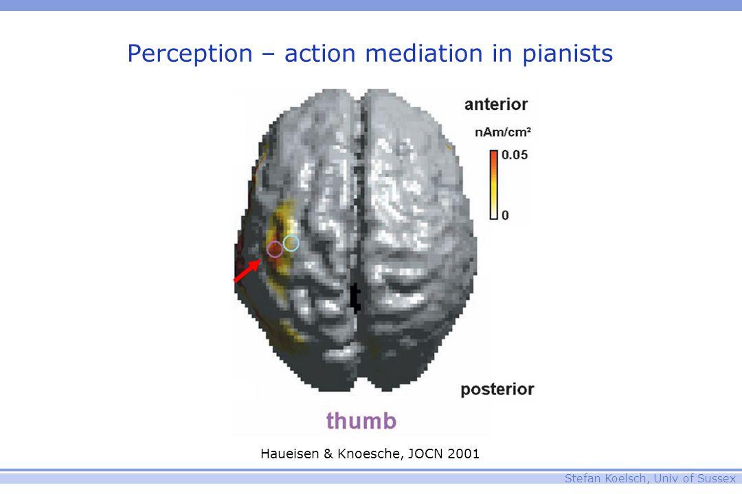 Stefan Koelsch, Univ of Sussex Perception – action mediation in pianists Haueisen & Knoesche, JOCN 2001