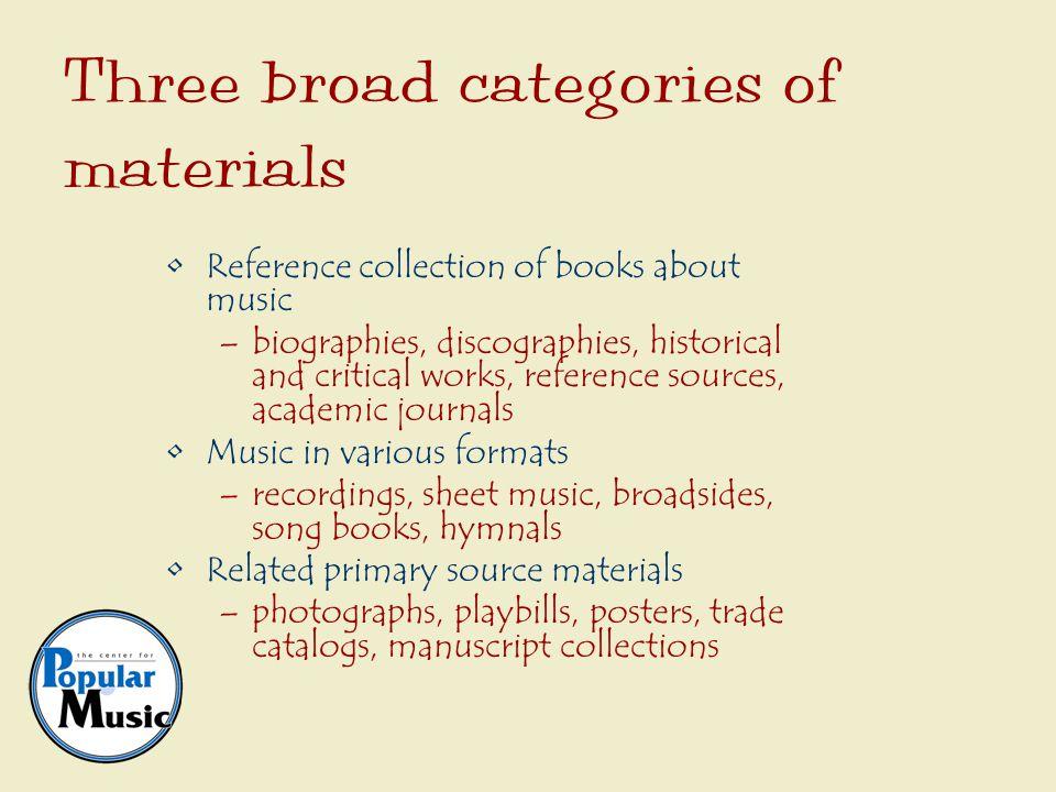Personal papers Manuscript music Business records Diaries Scrapbooks Manuscripts
