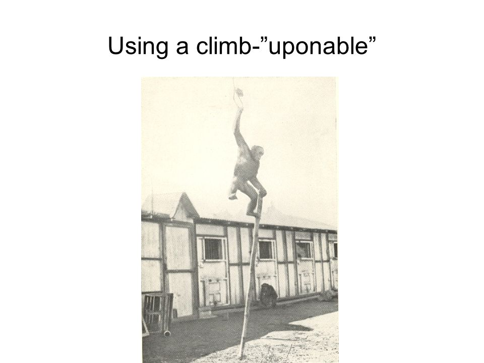 "Using a climb-""uponable"""