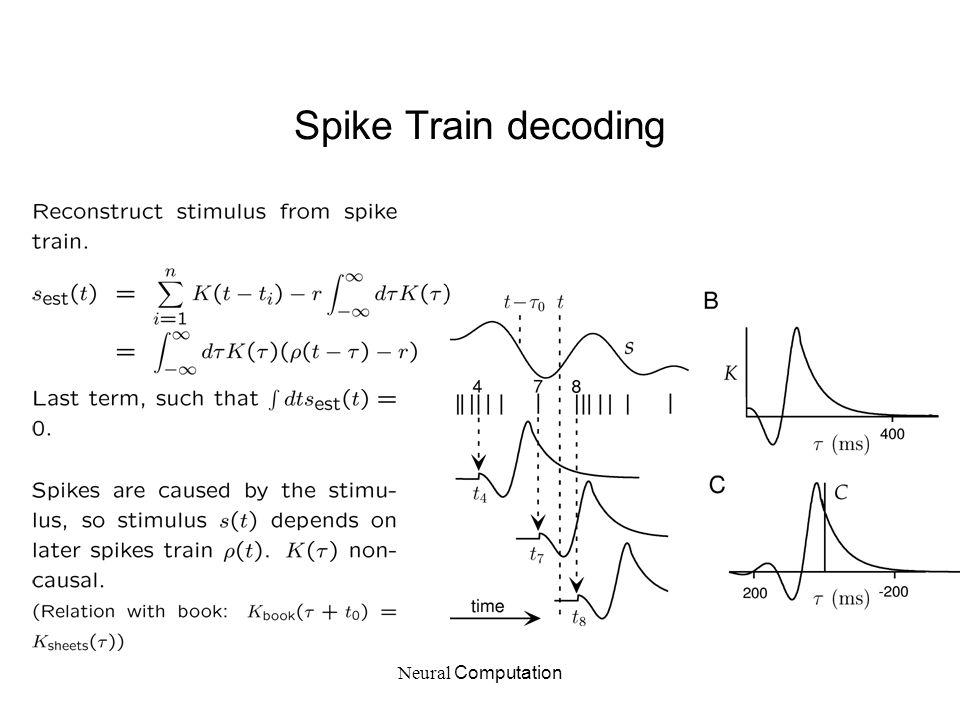 Spike Train decoding