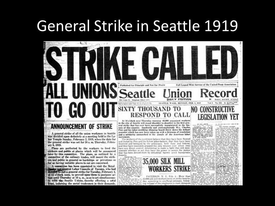 General Strike in Seattle 1919