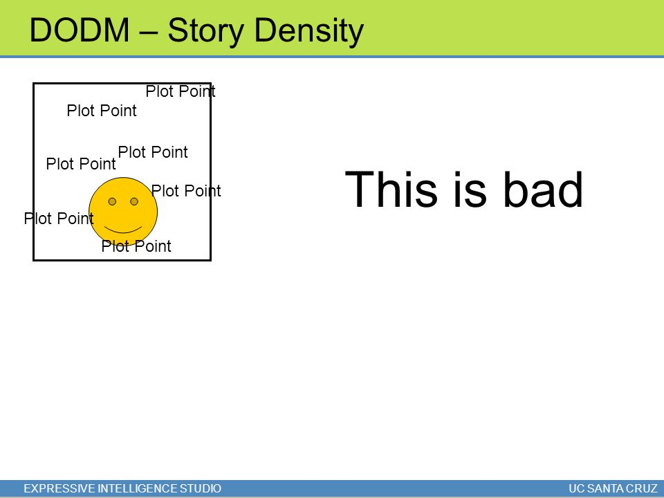 EXPRESSIVE INTELLIGENCE STUDIOUC SANTA CRUZ DODM – Story Density Plot Point This is bad