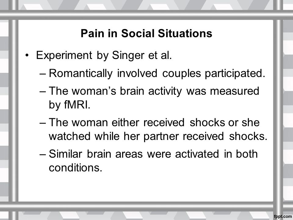 Pain in Social Situations Experiment by Singer et al.