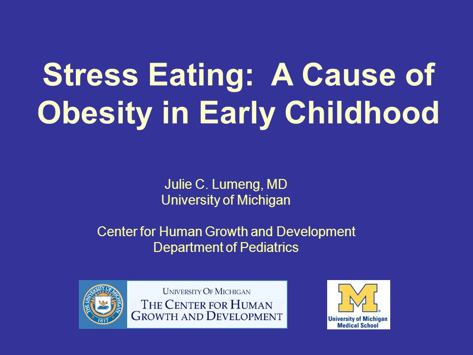 Stress Eating: A Cause of Obesity in Early Childhood Julie C.