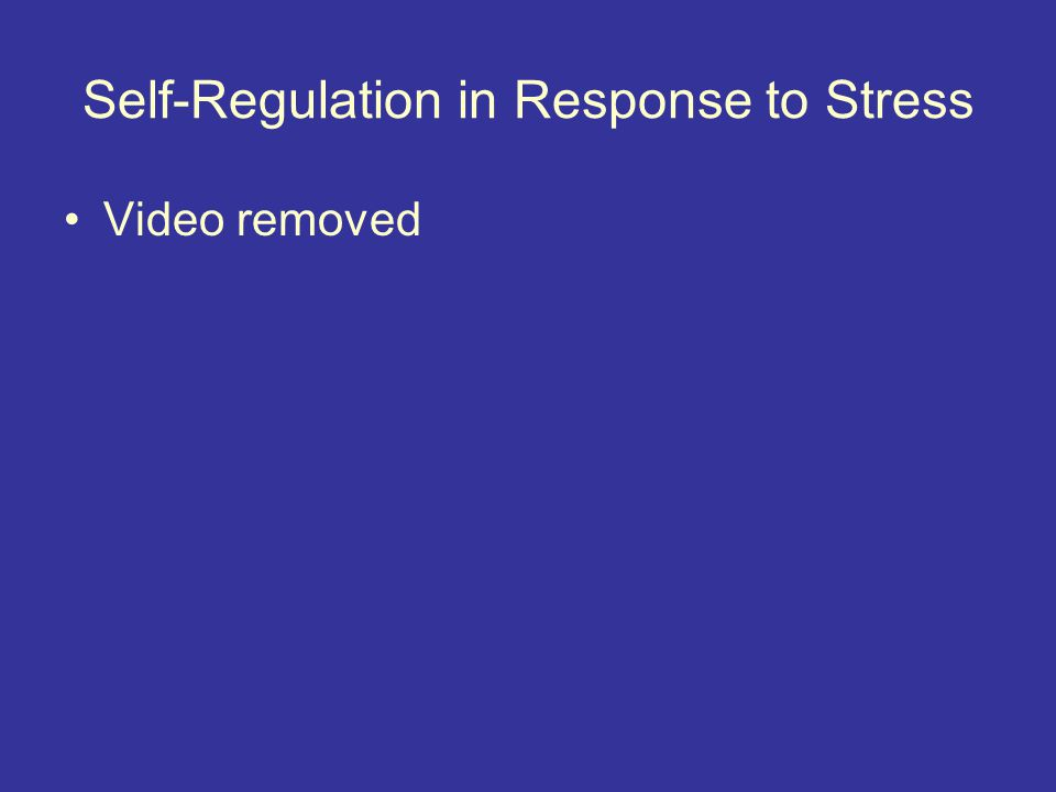 Self-Regulation in Response to Stress Video removed