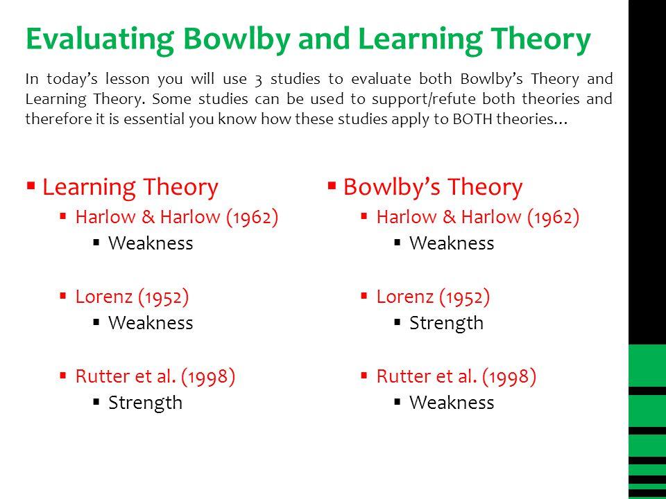Learning Theory vs.